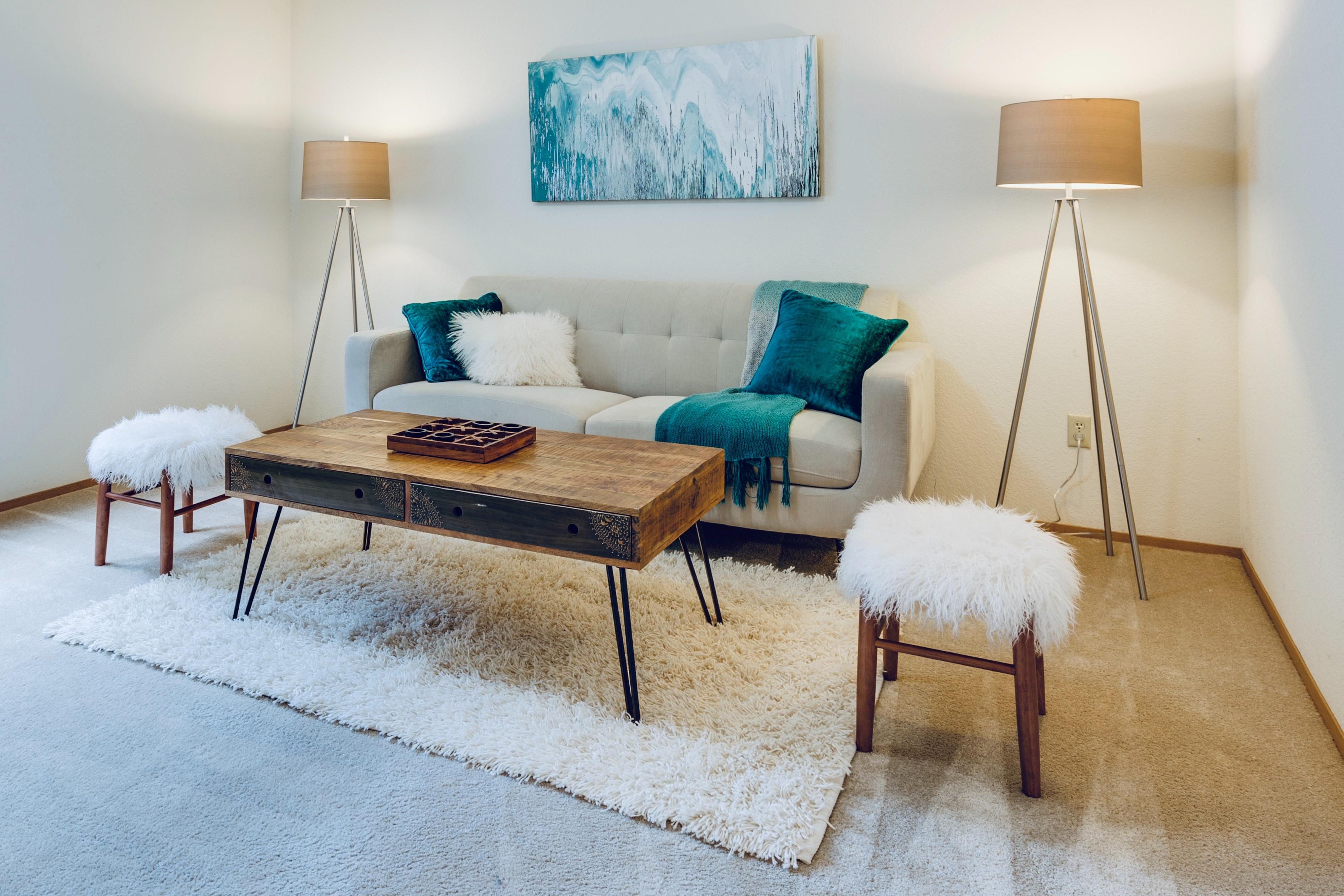 intérieur salon avec home staging